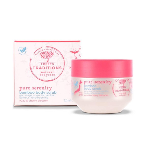 Treets traditions pure serenity bamboo body scrub 375gr